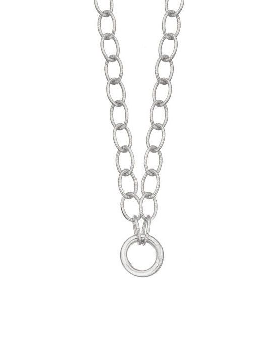 Classic Links Charm Necklace in Sterling Silver
