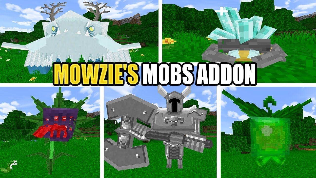 Mowzie S Mobs Addon Para Minecraft Pe 1 16 Bedrock Segunda Beta Minecraft Addons Fire And Ice Dragons Minecraft