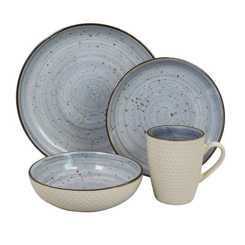 Bramblett 16 Piece Dinnerware Set Service For 4 Dinnerware Set Dinnerware Sets Ceramic Dinnerware