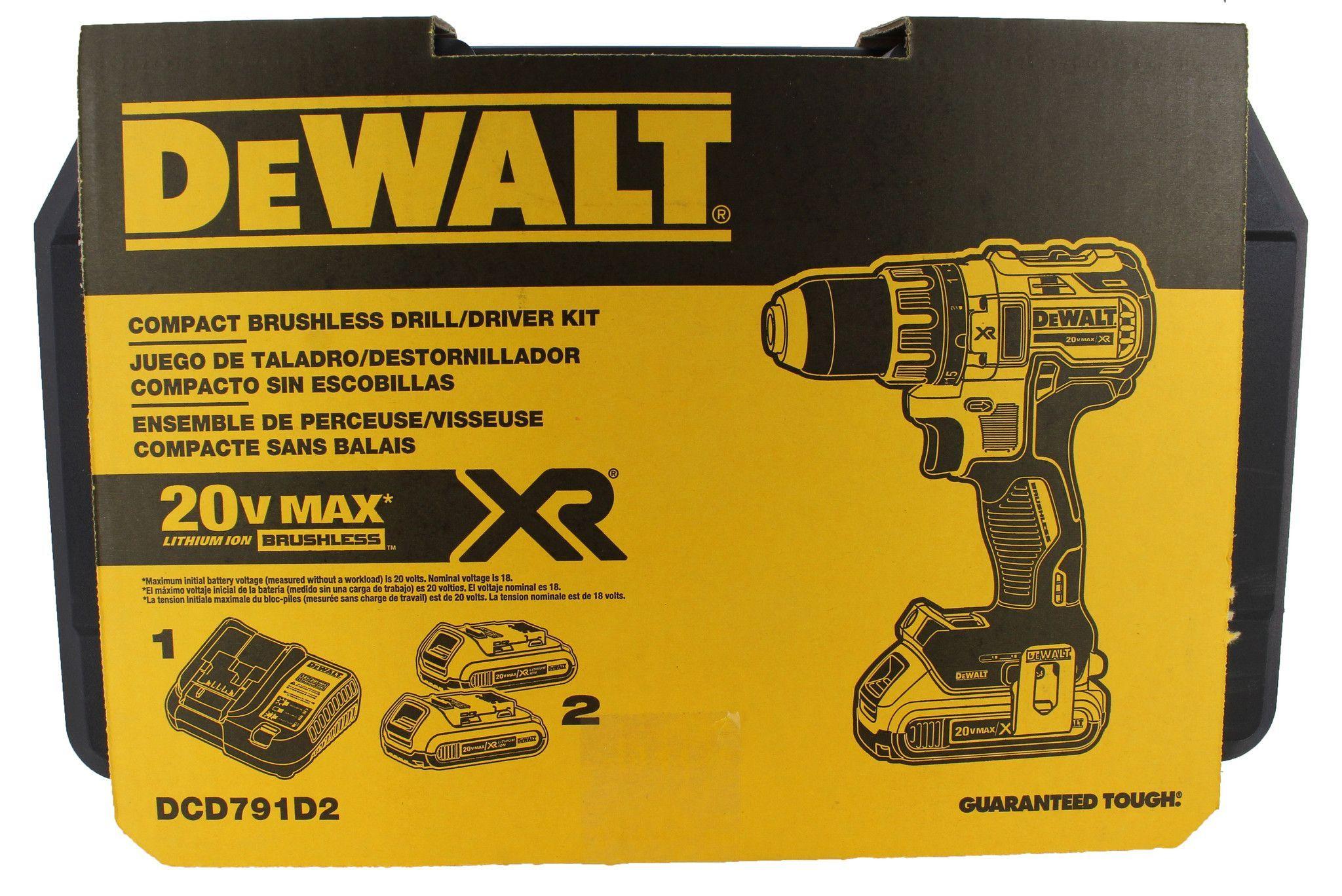 Dewalt DCD791D2 20V MAX XR Li-Ion 0.5\