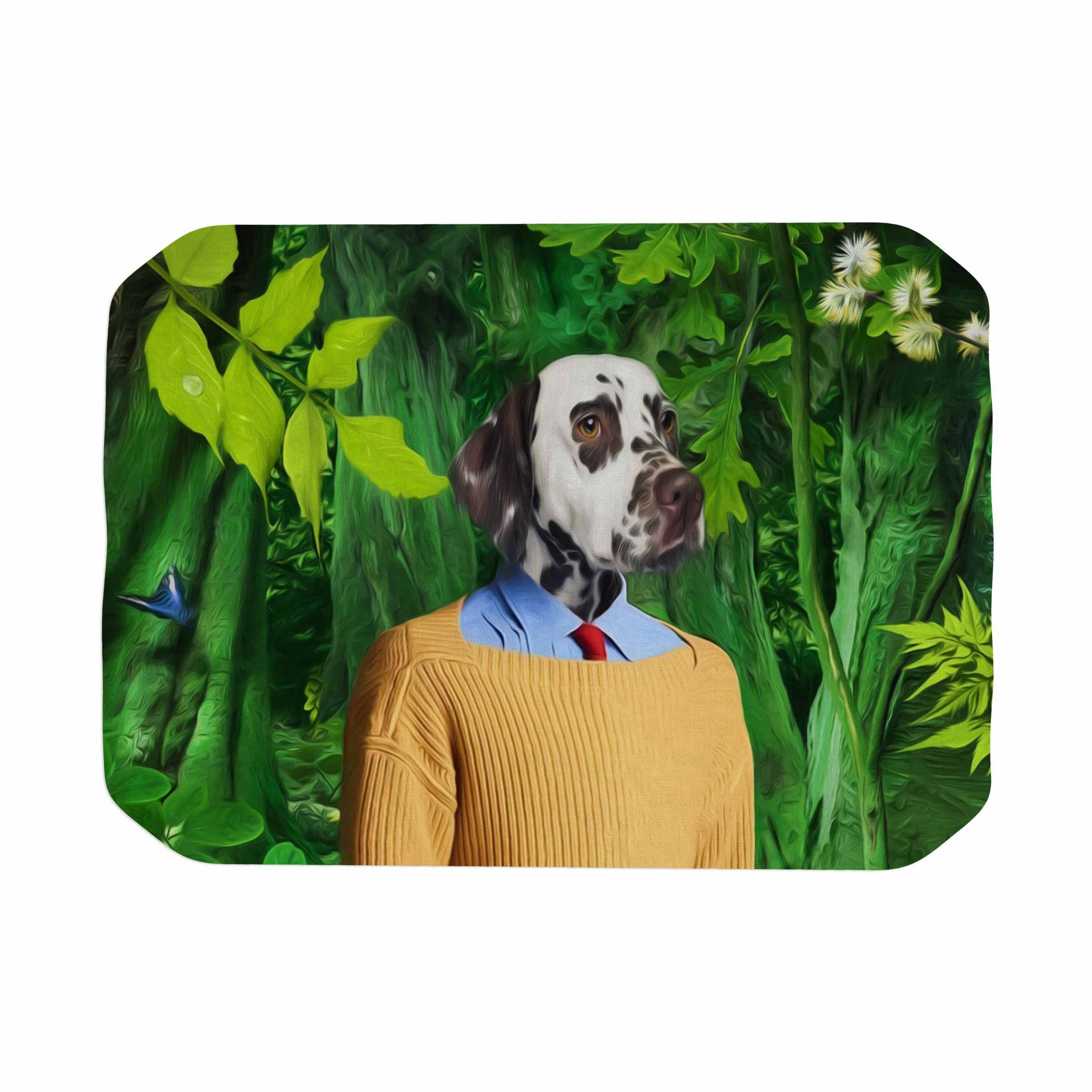 "Natt ""Into The Leaves N1"" Green Dog Place Mat"