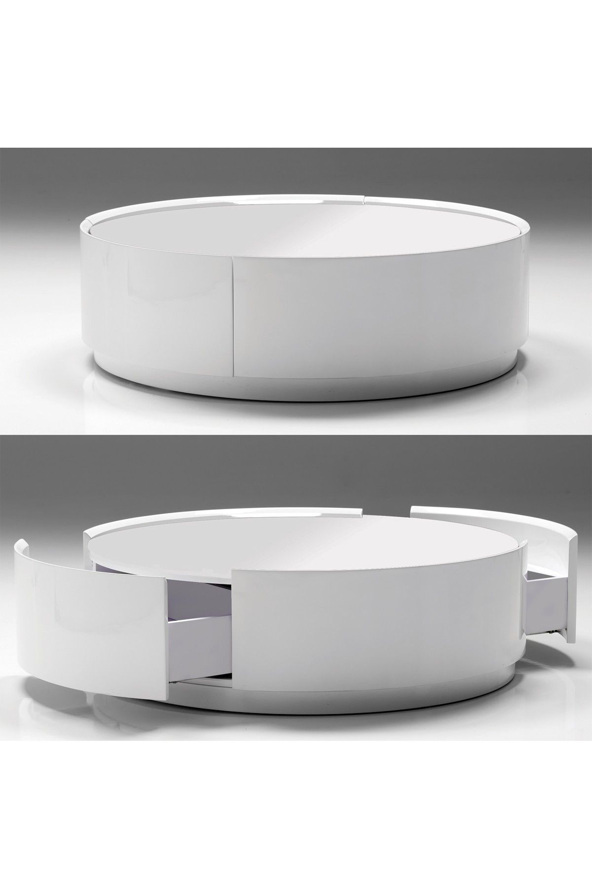Viva Pure White Storage Coffee Table Hautelook Round Coffee Table Modern Coffee Table With Storage Round Coffee Table