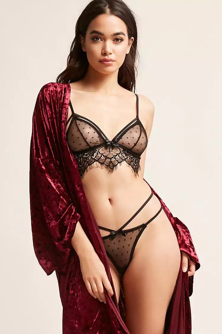 ec9e11f831 Product Name Dotted Lace Bralette   Panty Set