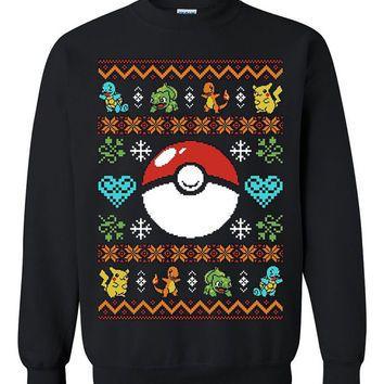 Nintendo Christmas Sweaters Pokemon Sweaters Sweatshirts Ugly