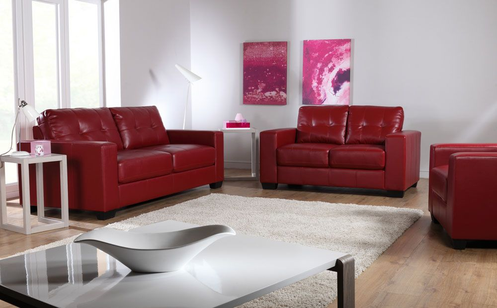 The Rio Red Leather Sofas At Furniture Choice Http Www