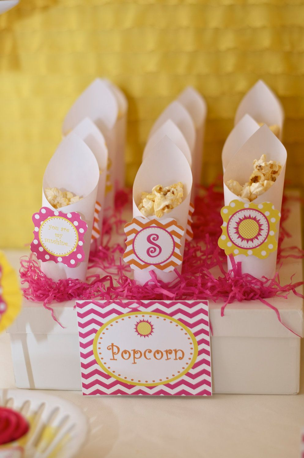 Cute holders for popcorn or other snacks - Sunshine