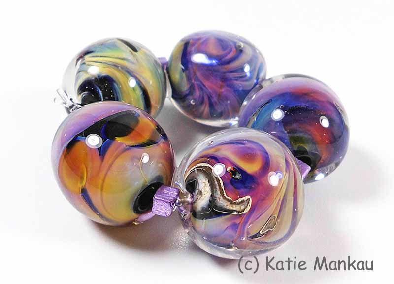 <3 Super Nova VI <3 Lampwork Beads ooak