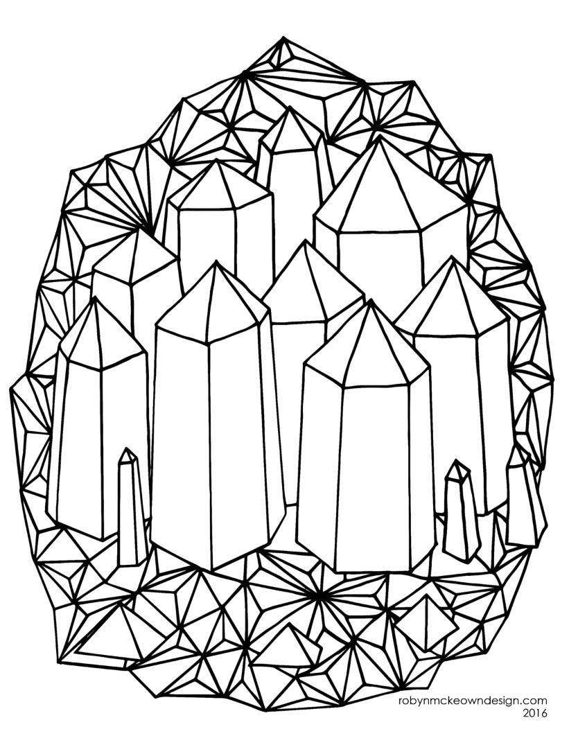 crystal coloring pages April Coloring Page | Elie toys & entertainment | Coloring pages  crystal coloring pages