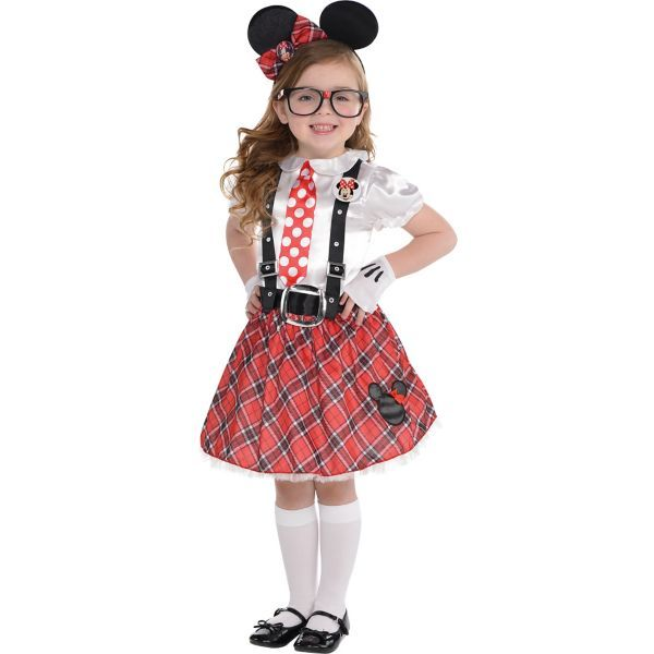 Little Girls Minnie Mouse Nerd Costume  sc 1 st  Pinterest & Little Girls Minnie Mouse Nerd Costume | Halloween Costume Ideas for ...