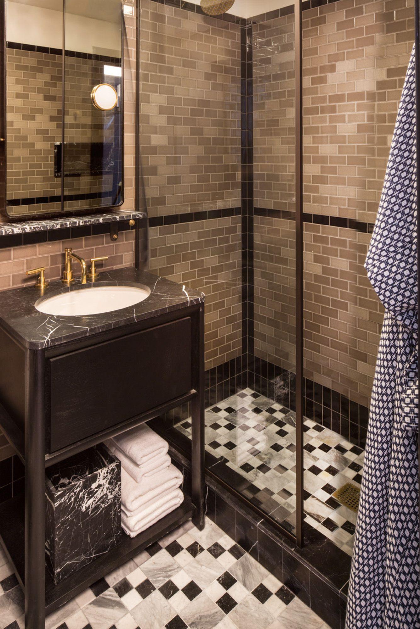 Tiled bathroom at san francisco proper hotel tiled bathroom at san francisco proper hotel kellywearstlerinteriordesign dailygadgetfo Images