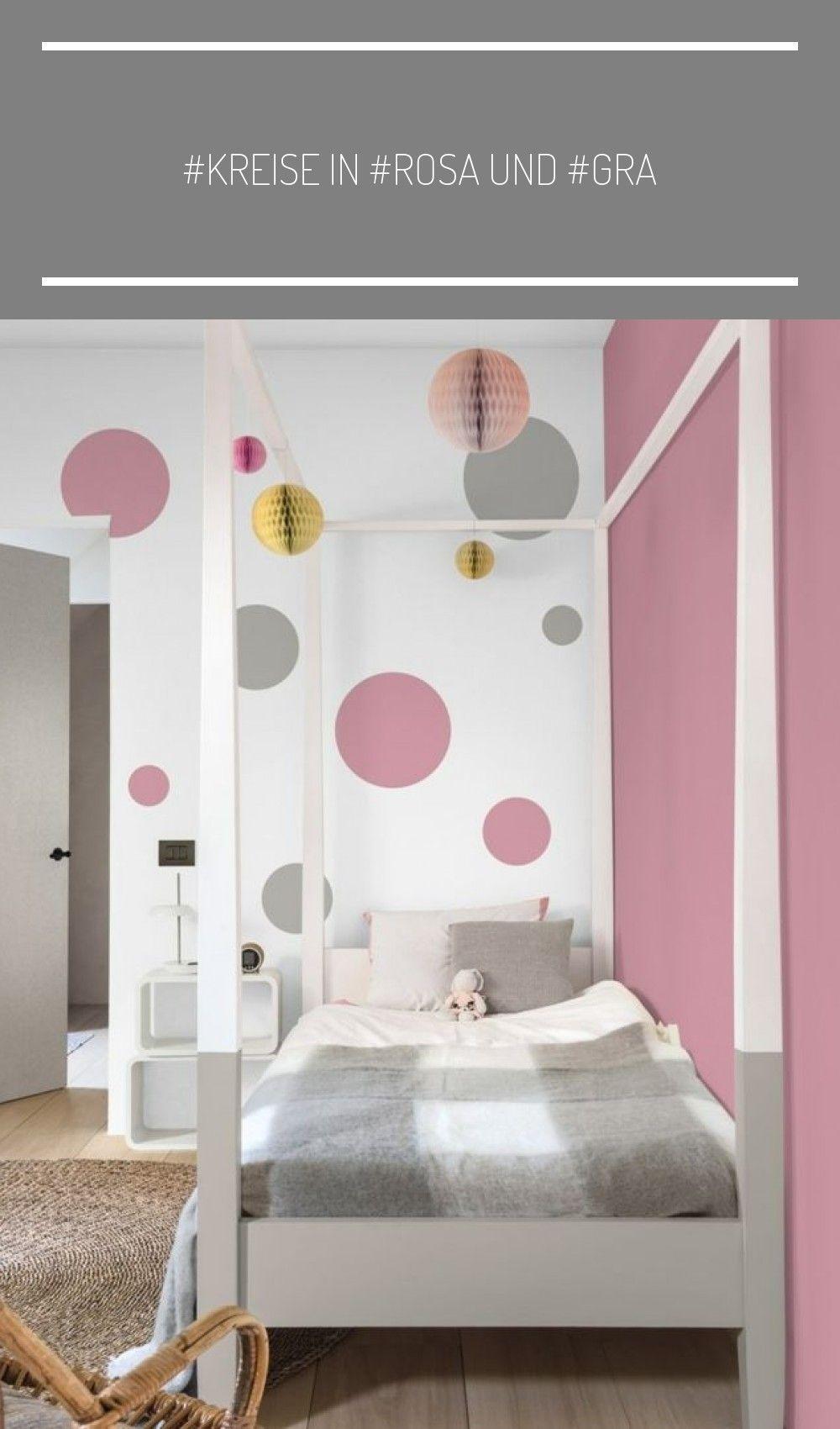 Kreise In Rosa Und Grau In Einem Madchenzimmer Babyzimmer Wandgestaltung In 2020 Kinder Zimmer Madchenzimmer Zimmer
