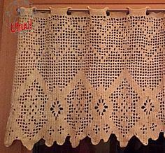 Gardine Geometrisch 1 Vorhang Filet Häkeln Anleitung Von Uhuu