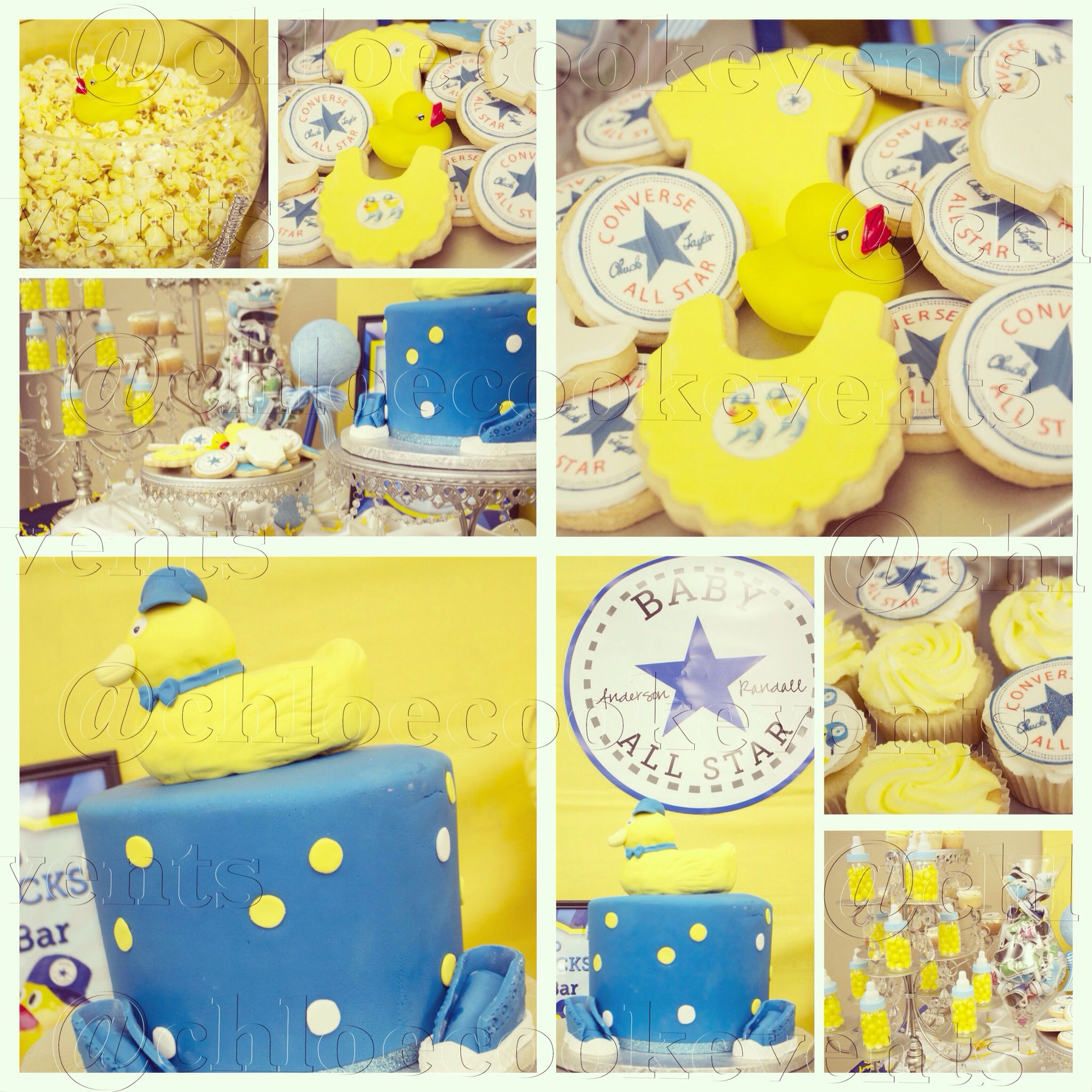 Chucks and Ducks converse themed baby boy shower