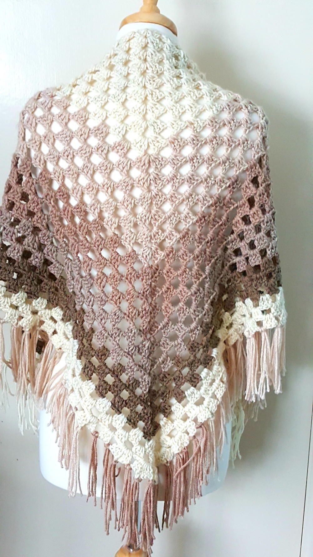 Crochet Ombre Shawl | Shawl, Ombre and Crochet