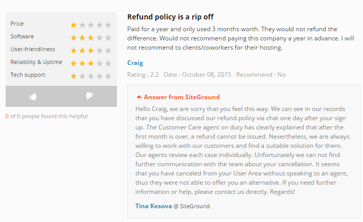 Refund Policy Is A Rip Off Siteground  Beware Of Siteground Web