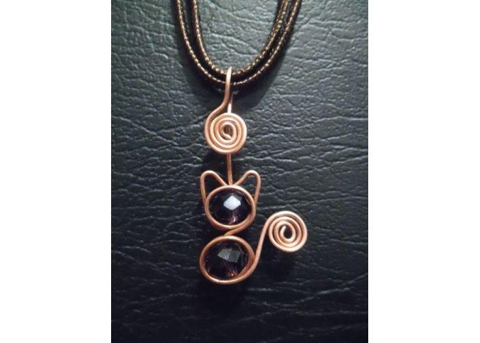 Dije de filigrana en cobre figura gatito t cnica - Limpieza de cobre ...