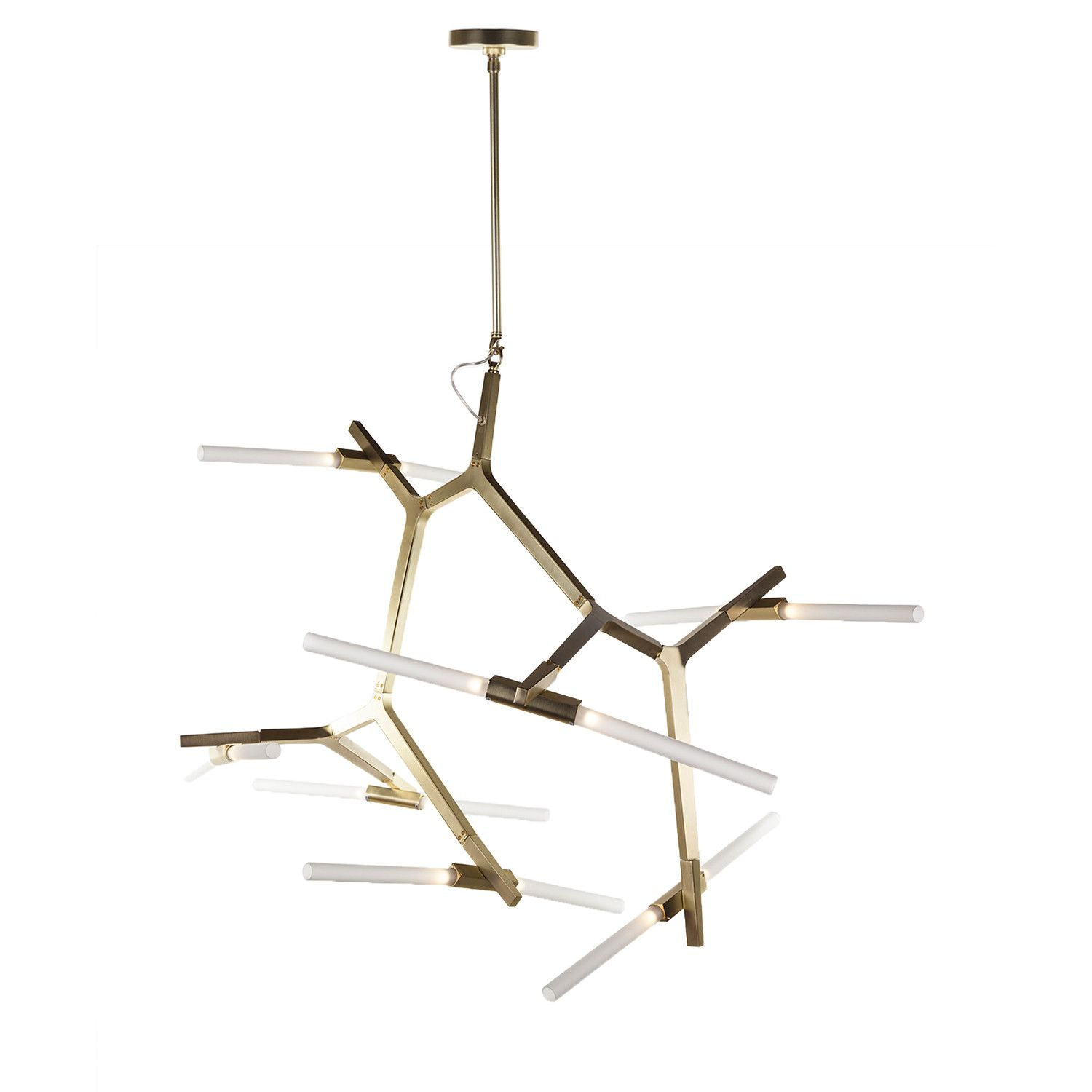 Anges Chandelier Fourteen Bulb Modern Branching Lamp
