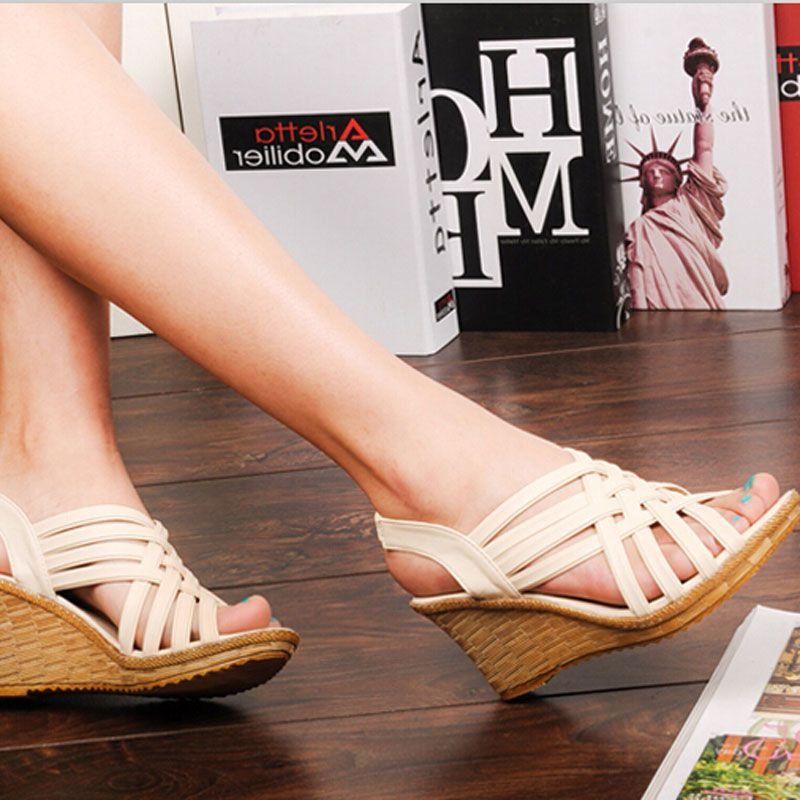 Aliexpress.com: Comprar 2016 calientes elegantes sandalias para mujer  mujeres de alta plataformas recortables