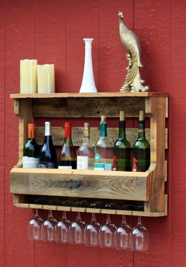 Easy pallet furniture ideas wine rack garden furniture for Easy wine rack