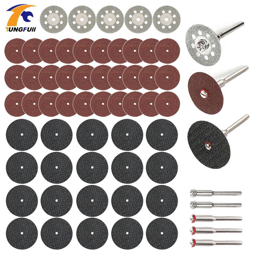 "60pc 1/"" Abrasive Wheel Buffing Polishing Wheel Set For Rotary Tools 3mm Shank"