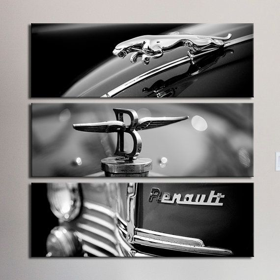 Jaguar classic car black and white canvas by PHOTOFORWALL on Etsy