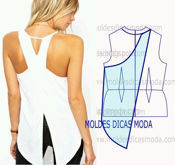 Patron blusa cruzada atrás | Blusas | Pinterest | Costura, Blusas y Moda