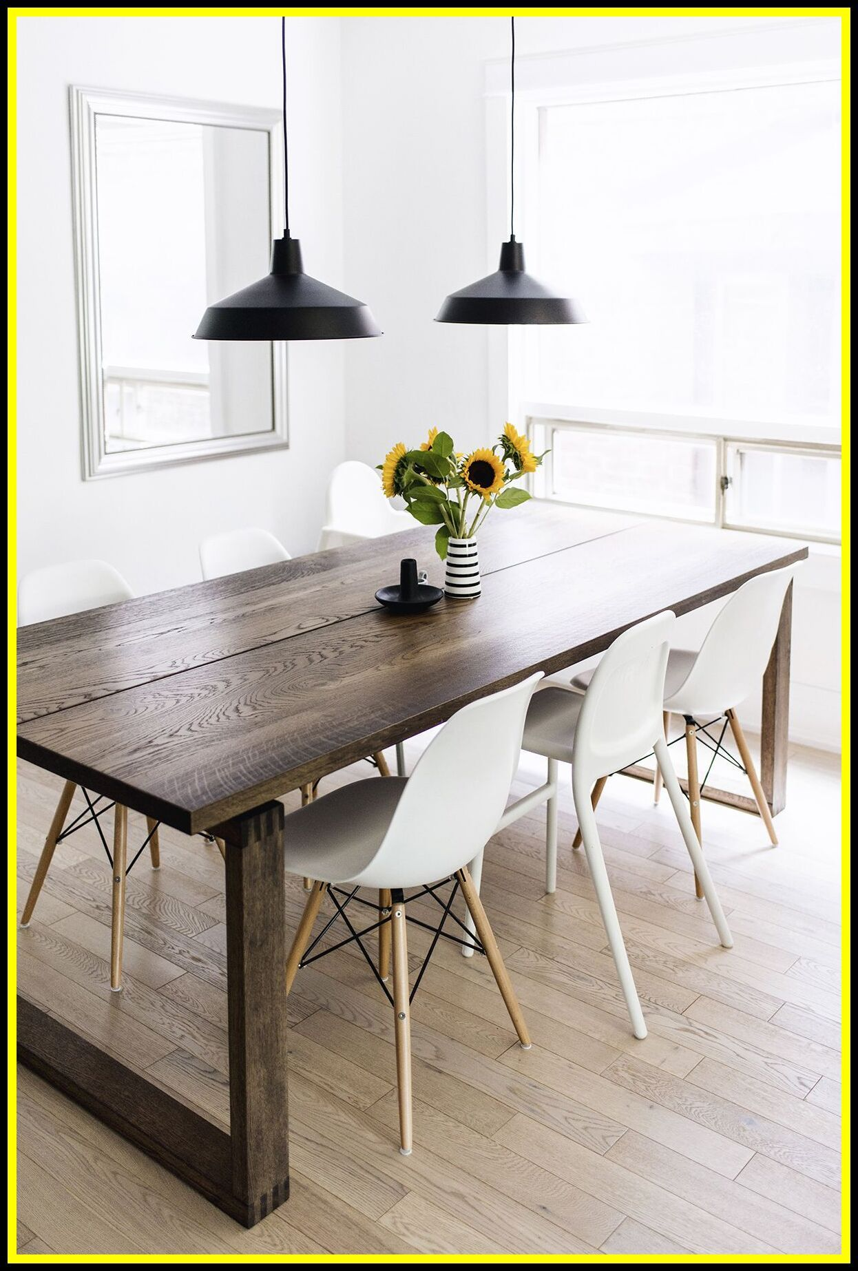 Parsons Dining Table White Oak Etsy In 2020 Apartment Dining Dining Table Design Modern Dining Table