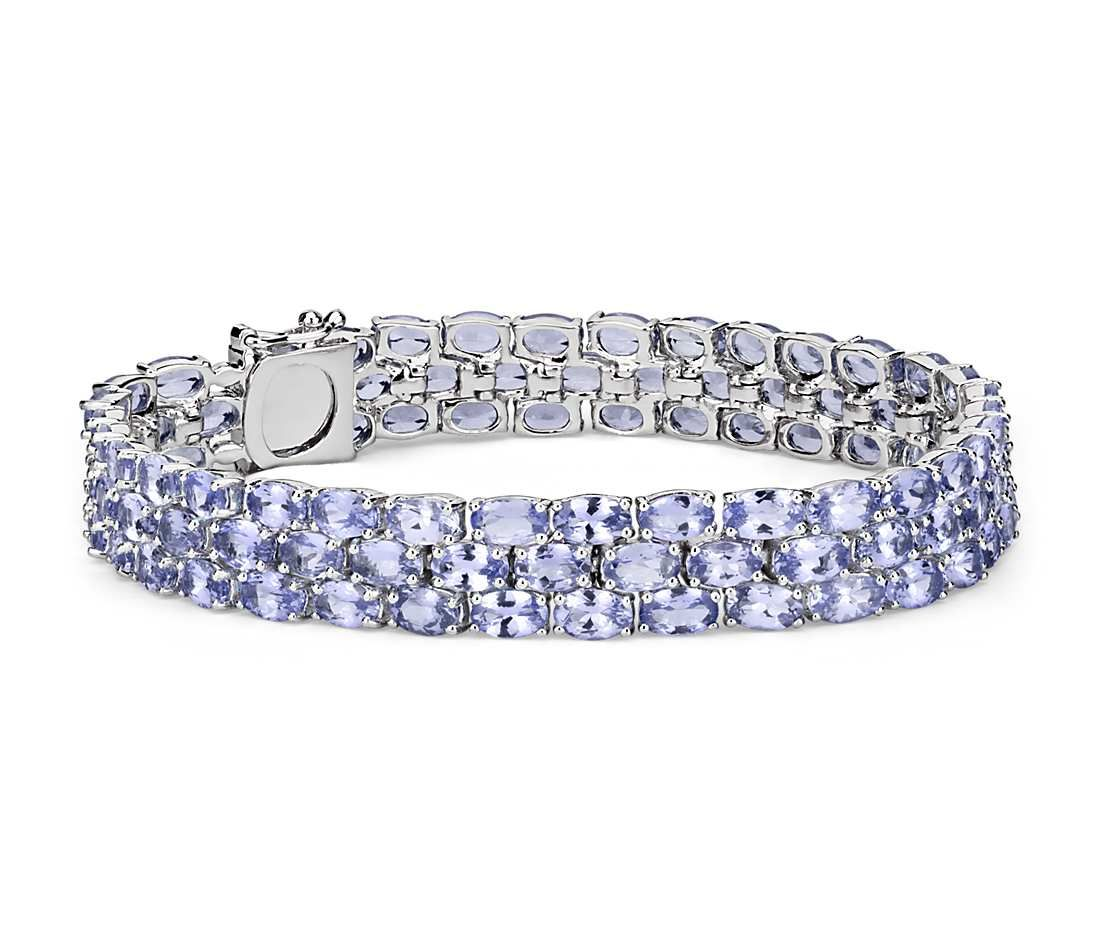 and tennis tanzanite evert in bracelet white gold diamond