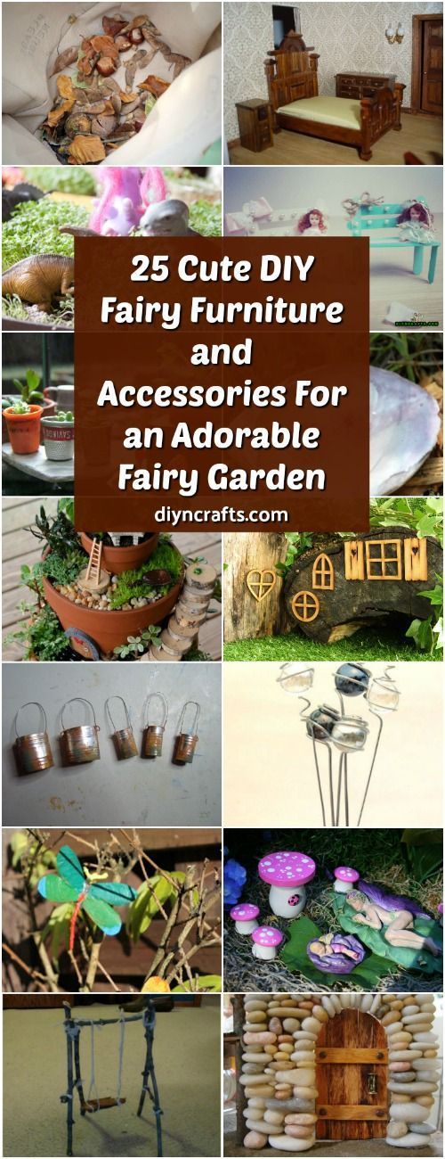 25 Cute DIY Fairy Furniture And Accessories For An Adorable Fairy Garden