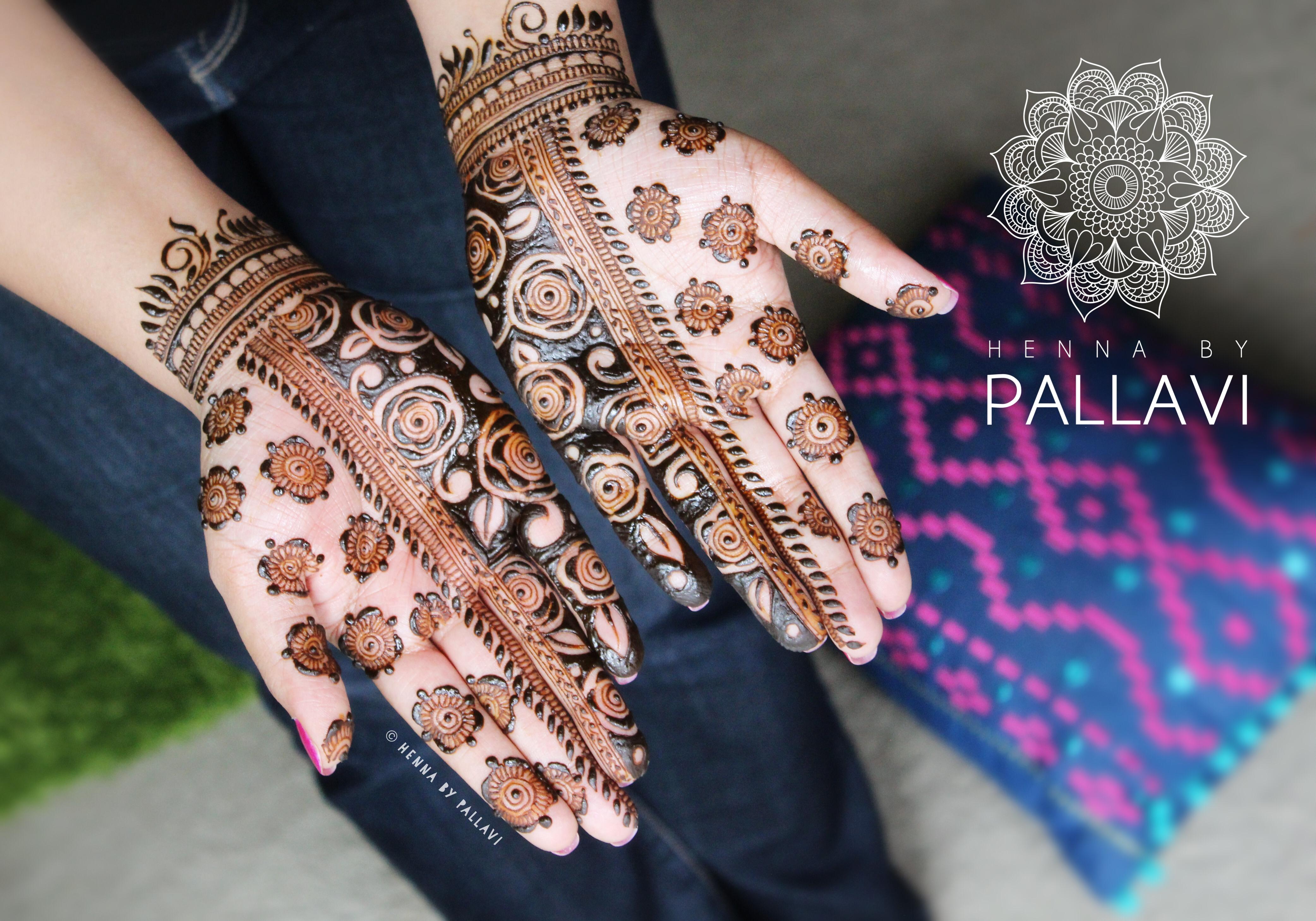 Mehndi Bunch On Arm : Henna designs reverse negative fill with gulf roses mehndi
