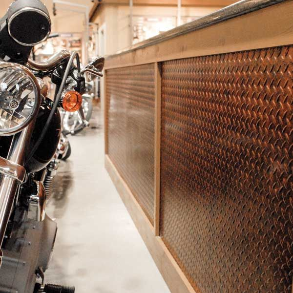 Slate Wall Panels Garage Man Cave Ideas Garage Storage: Fasade Wall Panel Diamond Plate, Moonstone Copper.