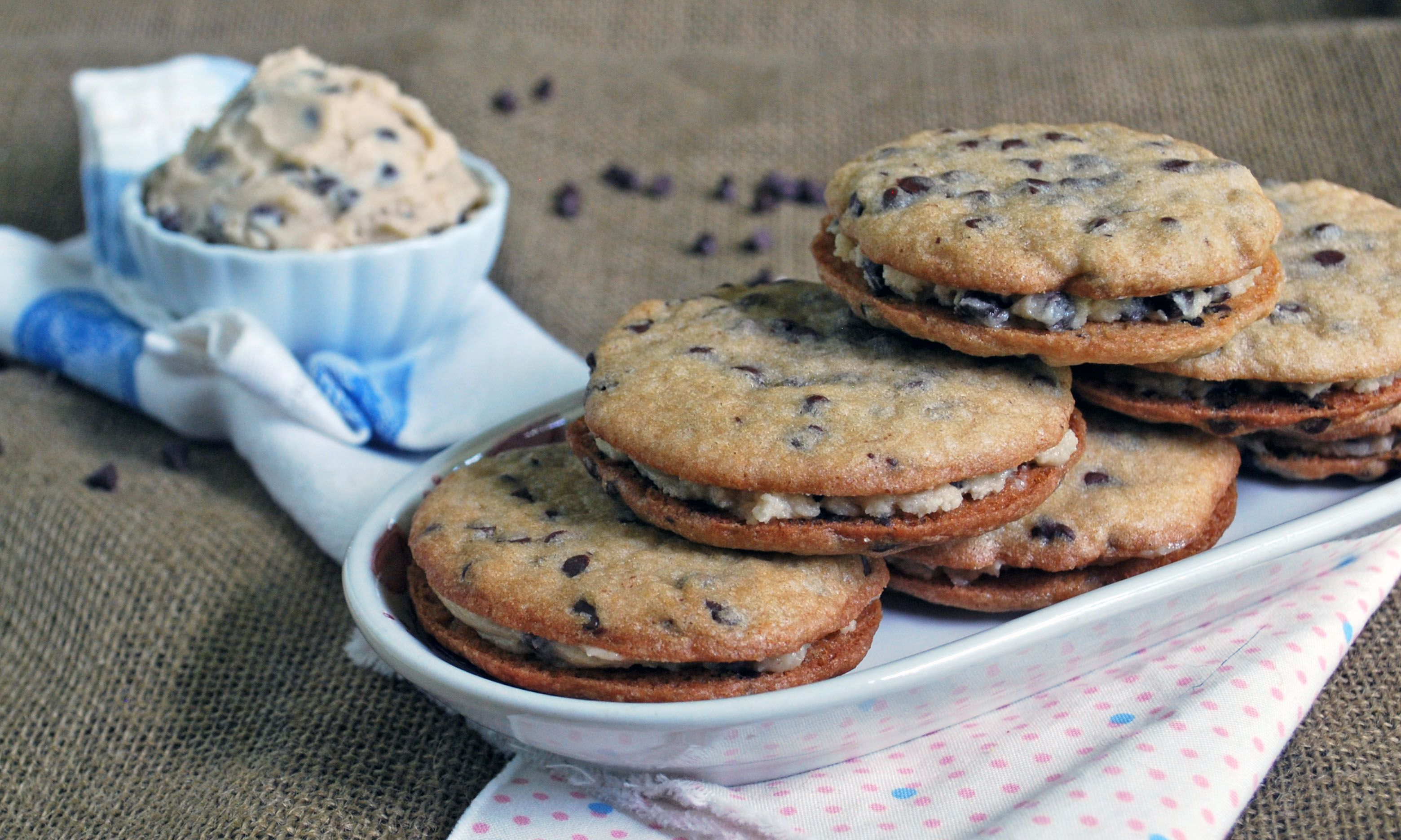 Chocolate Chip Cookie Dough Sandwiches by The Live-In Kitchen