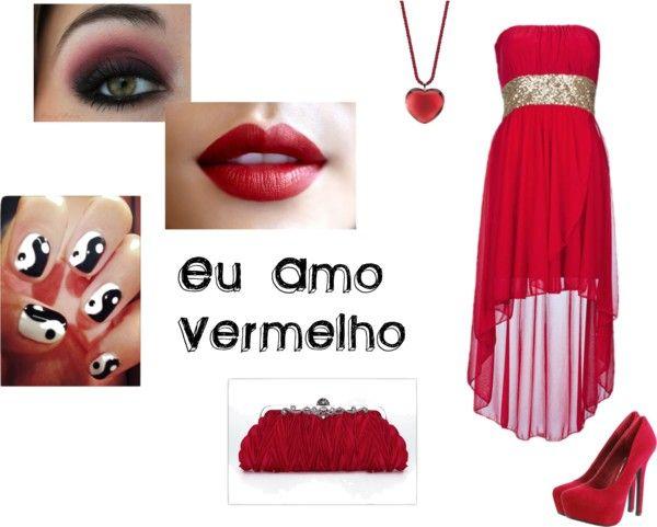 """""""Para quem AMA vermelho ^.^"""" by emiih ❤ liked on Polyvore"""