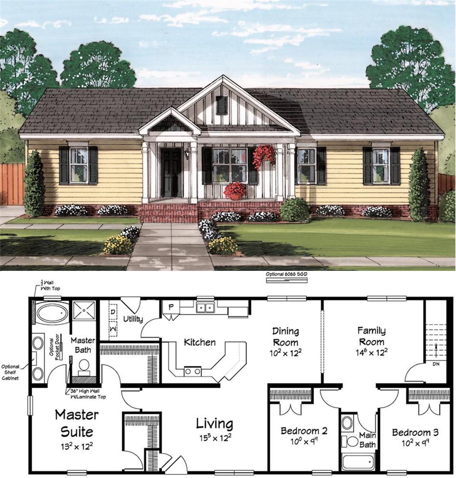 A Fantastic Use Of 1 600 Square Feet Dream House Plans Best House Plans House Blueprints