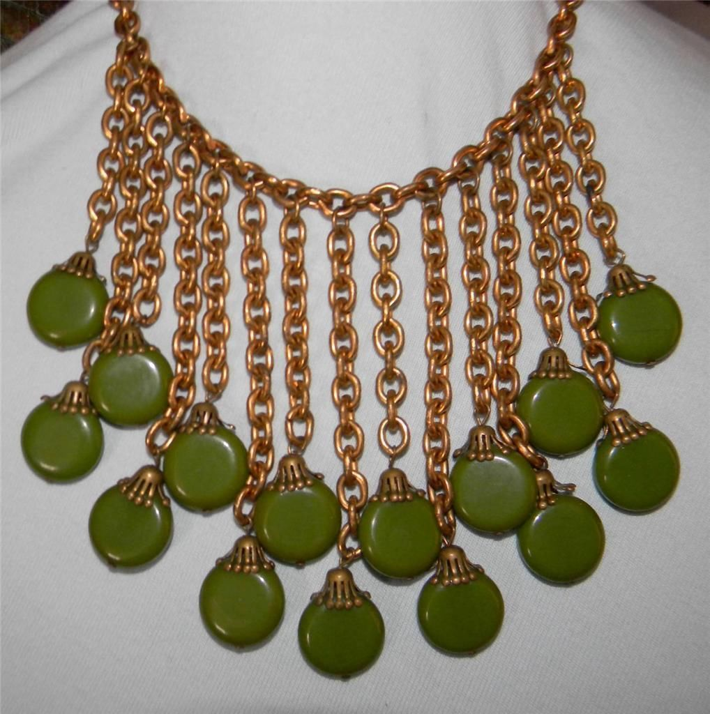 Antique Bakelite Egyptian Revival Miriam Haskell Necklace Art Deco Bib 1920s VTG