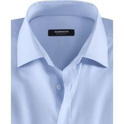 Photo of Walbusch Herren Hemd Business Extraglatt Pima-Cotton Regular Fit Kent-Kragen Hellblau einfarbig Walb