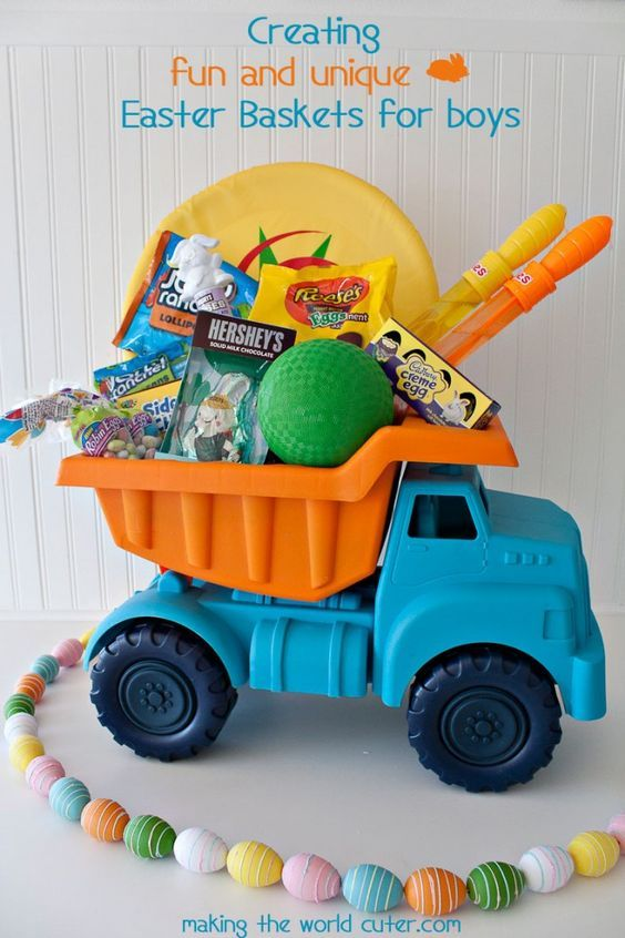Easter baskets for boys making the world cuter small trucks easter baskets for boys making the world cuter negle Images