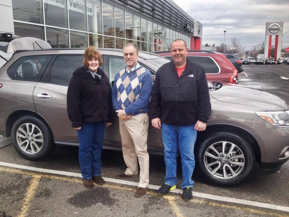 Mr. And Mrs. Bielak From Sayreville Leave Pine Belt Nissan Of Keyport In  Their