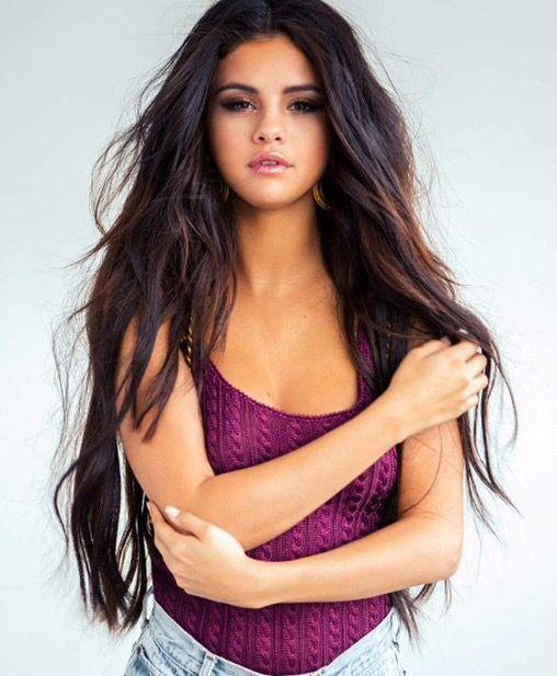 Selena Gomez Super Long Dark Brown Hair Extensions Hair