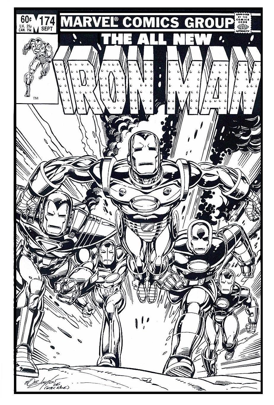 Invincible Iron Man By Bob Layton Superhero Coloring Comic Book Artwork Iron Man Armor