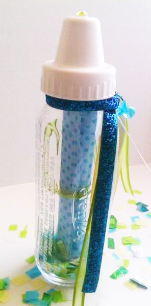 Glass Baby Bottle Invite Message In A Invites N