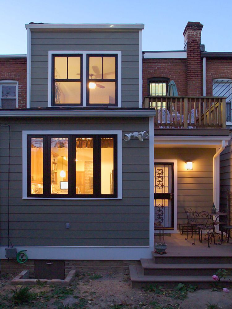 Rowhouse Two Story Addition Home Additions Second Story Addition Row House
