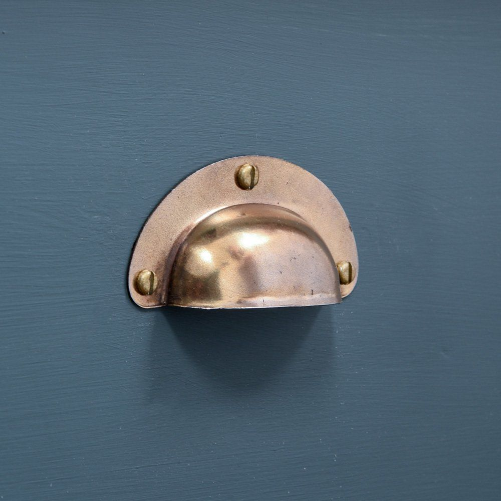 Small Pressed Brass Cup Handle Aged Cup Handles Brass Guest