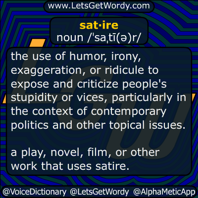 Satire 01 14 2015 Gfx Definition Of The Day Satire First
