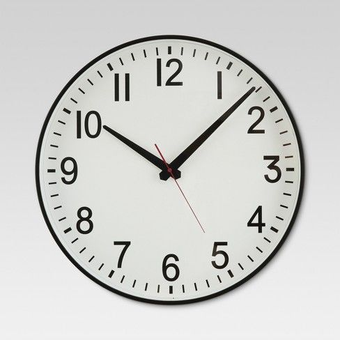 20 Wall Clock Black White Threshold Wall Clock Black And
