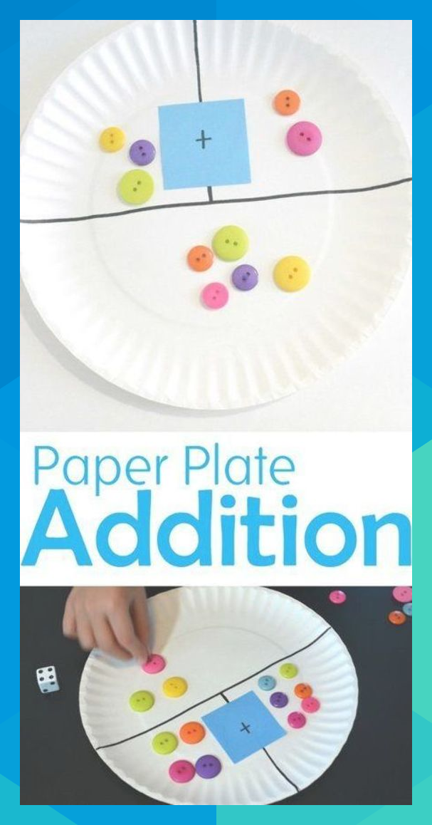Make a simple DIY paper plate addition game to help your