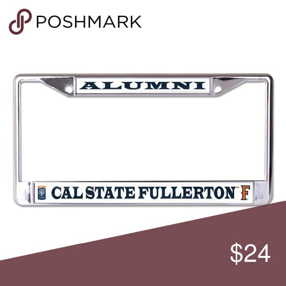 Cal State Fullerton Alumni Metal Tag Frame Boutique Fullerton Cal State Metal Tags