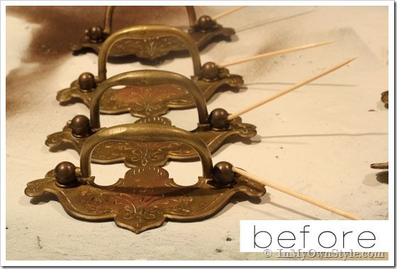 How To Update Brass Drawer Pulls In My Own Style Dresser