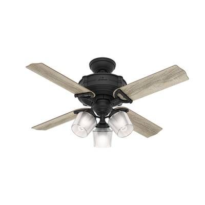 52 Quot Mill Valley 5 Blade Ceiling Fan With Remote Light Kit Included In 2020 Ceiling Fan