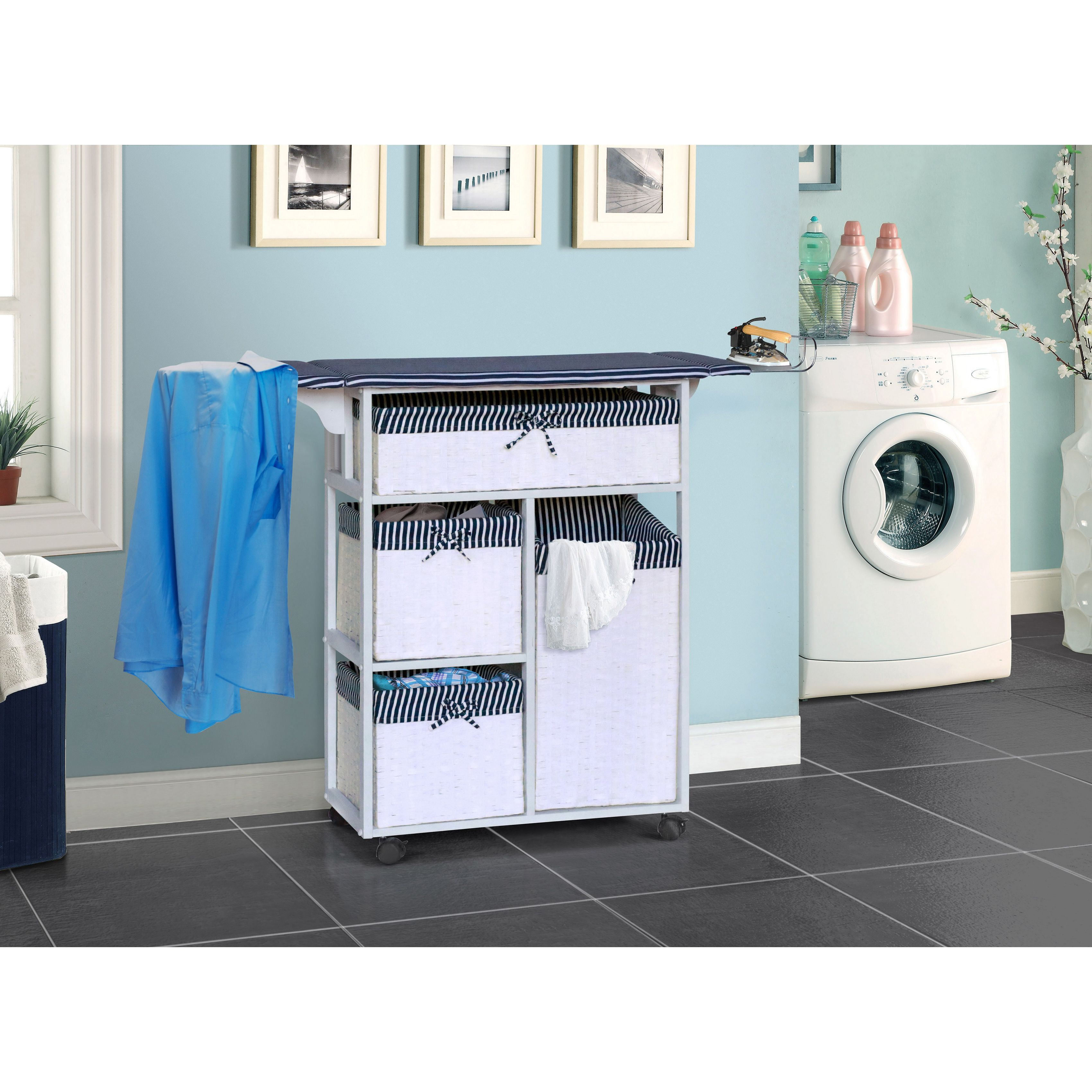 Gallerie Decor All In One Laundry Table Laundry Table Blue Wood Laundry Room Design Laundry Table Laundry Room Storage